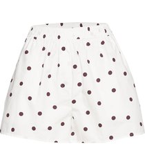 printed cotton poplin shorts flowy shorts/casual shorts vit ganni