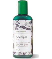 shampoo sem sal orgânico de aloe vera botanicaloe 140ml