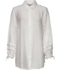 aviecr shirt långärmad skjorta vit cream