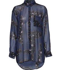 nikita blouse lange mouwen blauw munthe