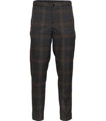 slhslimtapered-code check trouser kostuumbroek formele broek grijs selected homme