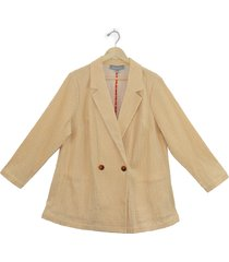 plus size women's daniel rainn double breasted textured corduroy jacket, size 2x - ivory