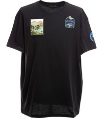 oversized t-shirt with embroidered patches