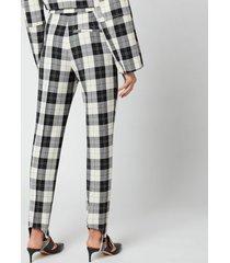 baum und pferdgarten women's naleen trousers - cream black check - eu 40/uk 12