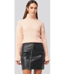 rut&circle nellie pu skirt - black