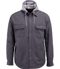 wolverine men's overman shirt jac granite, size m