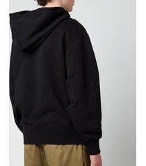 ami men's oversized de coeur logo hoodie - black - xxl