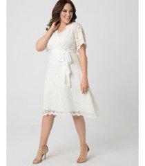 kiyonna women's plus size graced with love dress