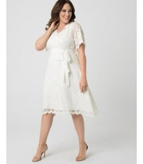 kiyonna women's plus size graced with love wedding dress