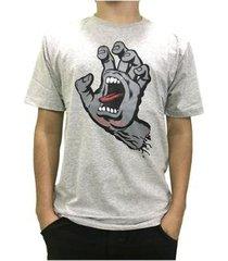 camiseta santa cruz classic screaming hand masculina