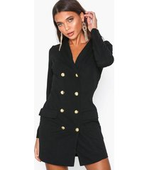 ax paris long sleeve blazer dress skater dresses black