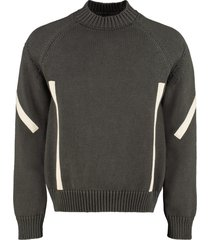 jacquemus grain cotton long sleeve sweater