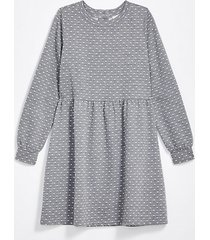 loft dotted stripe button back swing dress