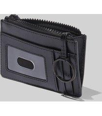 marc jacobs women's top zip multi wallet - black