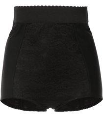 dolce & gabbana high rise lace shorts - black