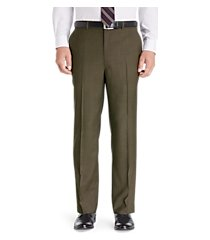 traveler collection tailored fit flat front washable wool dress pants clearance by jos. a. bank