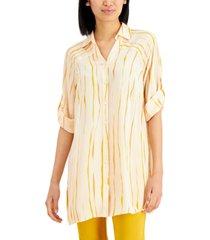 alfani striped tunic top, created for macy's