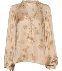 to love blouse blus långärmad beige odd molly