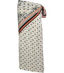 y/project printed asymmetric silk skirt