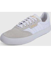 tenis lifestyle beige-blanco adidas originals 3mc