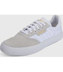 tenis lifestyle beige-blanco adidas originals 3mc