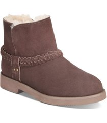 style & co kaii cold-weather ankle booties, created for macy's women's shoes
