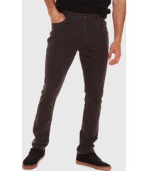 pantalón rip curl marrón - calce ajustado