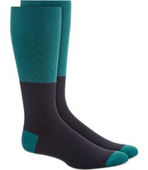 alfani men's colorblocked textured diamond socks, created for macy's