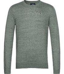 hco. guys sweaters stickad tröja m. rund krage grön hollister