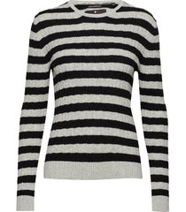 luxe mini cable knit gebreide trui wit superdry