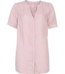 camisa gap reta listrada rosa
