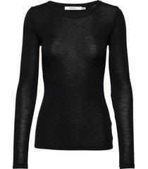 wilmagz ls tee noos t-shirts & tops long-sleeved zwart gestuz