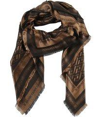 versace fringed edge scarf