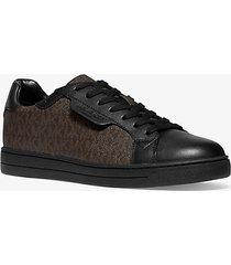 mk sneaker keating in pelle con logo - marrone/nero (marrone) - michael kors