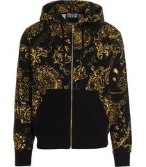 versace jeans couture baroque bijoux sweatshirt