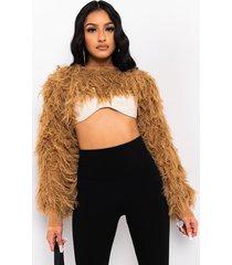 akira overlay fuzzy sweater