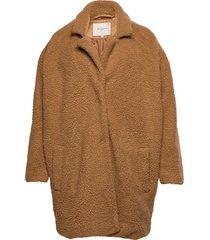 caraura sherpa coat otw outerwear faux fur brun only carmakoma