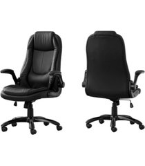 monarch specialties office chair - leather-look high back executive