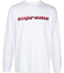 supreme chrome logo t-shirt - white