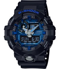 g-shock men's analog-digital black resin strap watch 54mm ga710-1a2