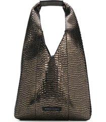 brunello cucinelli crocodile-effect hobo bag - green