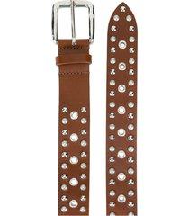 isabel marant studded leather belt
