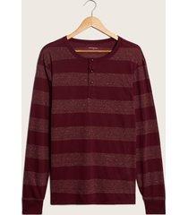 camiseta manga larga a rayas vino s