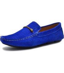 mocassim sartre driver italian azul - azul - masculino - couro - dafiti