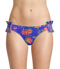 andros blue floral bikini bottoms