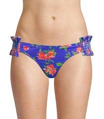andros blue floral bikini bottoms