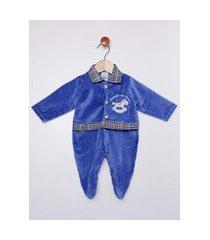 enxoval plush infantil para bebê menino - azul
