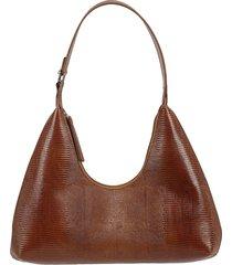by far amber lizard embossed shoulder bag