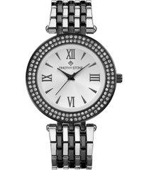 timothy stone women's 'burst' roman numeral crystal two tone boyfriend bracelet watch