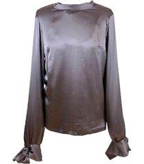 tina silk blouse